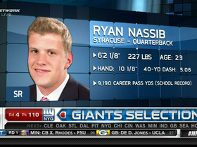 Video - New York Giants draft quarterback Ryan Nassib No. 110 in 2013 NFL Draft
