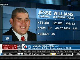 Watch: Seahawks draft DT Jesse Williams No. 137 in 2013 NFL Draft