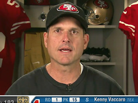 Watch: Harbaugh happy with 49ers' draft haul