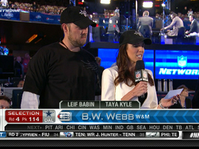 Video - Dallas Cowboys pick B.W. Webb No. 114