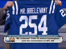 Watch: Irrelevant no more: Justice Cunningham joins the show