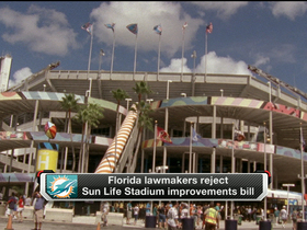 Video - Clouds brewing over Miami Dolphins' Sun Life Stadium