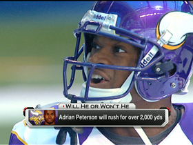Will Adrian Peterson rush for over 2,000 yards in 2013?