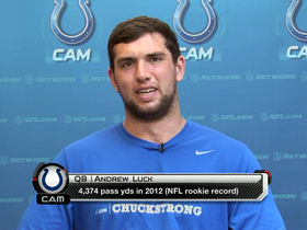 Watch: Luck: I feel '100 percent more comfortable' this year