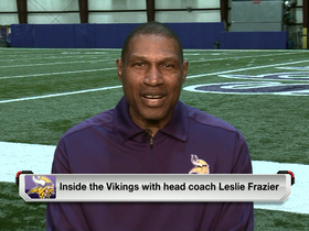 Watch: Leslie Frazier talks new stadium and new faces