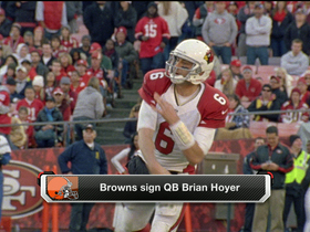 Watch: Browns sign QB Brian Hoyer