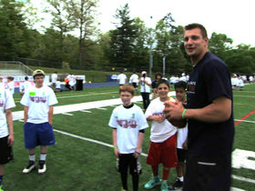 Video - New England Patriots visit Newtown