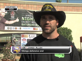 Watch: Allen hosts charity golf tournament to help veterans
