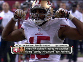 Video - 49ers wide receiver Michael Crabtree tears his Achilles tendon at OTAs
