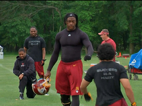 Watch: Alfred Morris on RG3: 'He's looking great'
