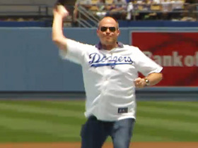 Watch: Rich Eisen throws first pitch at Dodger Stadium