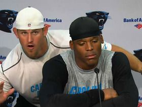 Watch: Cam Newton videobombed at press conference