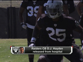 Video - Oakland Raiders cornerback D.J. Hayden released from hospital