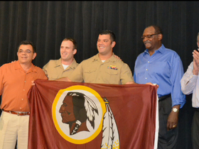 Watch: Redskins fullback becomes Navy Lieutenant
