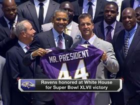 Video - President Obama greets Baltimore Ravens at White House