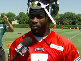 Watch: Vick 'pleased' with progress in camp