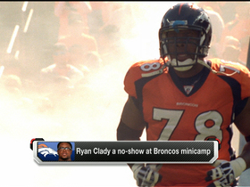 Watch: Ryan Clady a no-show at Broncos minicamp