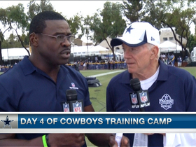 Video - Dez Bryant listening closely to Jerry Jones