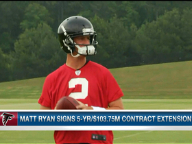 Video - Atlanta Falcons QB Matt Ryan signs $103.75M contract extension