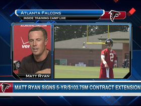Video - Atlanta Falcons QB Matt Ryan signs big extension, now ready for 2013 season