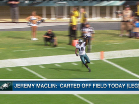 Video - Philadelphia Eagles Jeremy Maclin carted off practice field