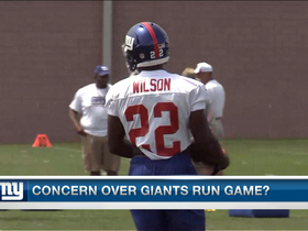 Video - New York Giants' running game concerns
