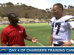 Video - San Diego Chargers QB Phillip Rivers 1-on-1 at training camp