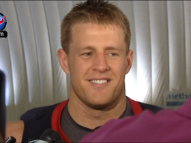 Video - Houston Texans defensive end J.J. Watt: 'Anybody could look good in shorts'