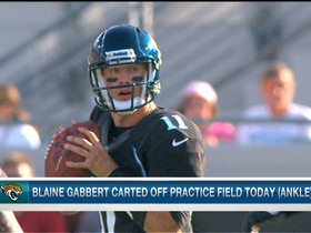 Video - Jacksonville Jaguars quarterback Blaine Gabbert carted off field with ankle injury