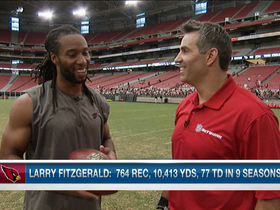 Video - Arizona Cardinals wide receiver Larry Fitzgerald praises quarterback Carson Palmer