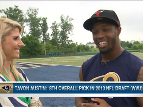 Video - St. Louis Rams rookie wide receiver Tavon Austin adjusting to NFL life