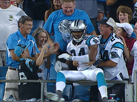 Video - Carolina Panthers cornerback Josh Norman pick-six