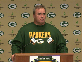 Video - Green Bay Packers head coach Mike McCarthy: Our run game was not consistent