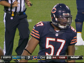Video - Chicago Bears linebacker Jon Bostic's spectacular tackle forces incompletion