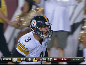 Video - Pittsburgh Steelers quarterback Landry Jones finds wide receiver Derek Moye for a touchdown