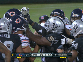 Video - Oakland Raiders and Chicago Bears get testy