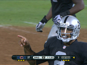 Video - Oakland Raiders QB Terrelle Pryor 19-yard jump-pass to Streater