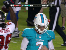 Video - Miami Dolphins QB Pat Devlin intercepted