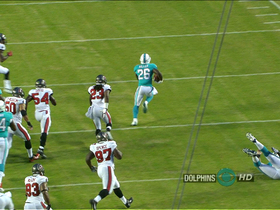 Video - Miami Dolphins running back Lamar Miller breaks free for 20 yards
