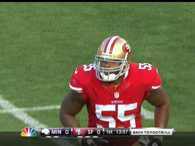 Video - San Francisco linebacker Ahmad Brooks strips football from Minnesota Vikings quarterback Christian Ponder