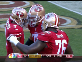 Video - San Francisco QB Colin Kaepernick 5-yard touchdown pass
