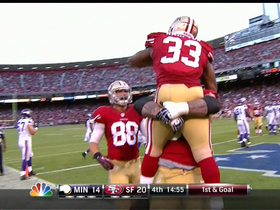 Video - San Francisco 49ers running back Jewel Hampton 4-yard touchdown
