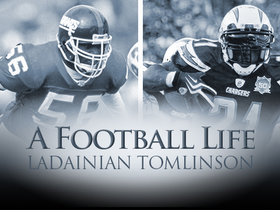 Video - Lawrence Taylor passes 'LT' to LaDainian Tomlinson