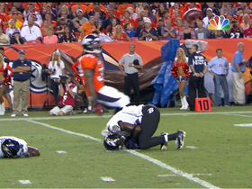 Video - Baltimore Ravens wide receiver Jacoby Jones sprains knee after colliding with teammate
