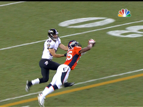 Video - Baltimore Ravens quarterback Joe Flacco throws interception