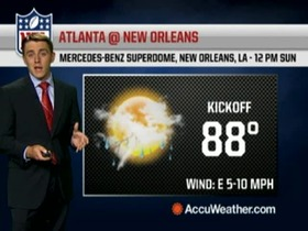 Video - Weather update: Falcons @ Saints
