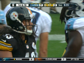 Video - Pittsburgh Steelers safety Troy Polamalu leaps in for sack