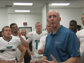 Video - Miami Dolphins head coach Joe Philbin proud of his team in postgame locker room speech