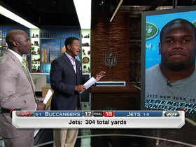 Video - New York Jets offensive tackle D'Brickashaw Ferguson on Jets' performance