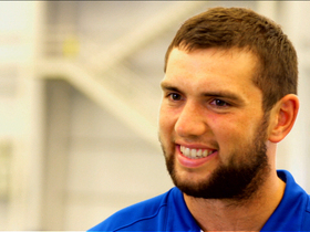 Video - Indianapolis Colts QB Andrew Luck enjoys privacy, flip phone